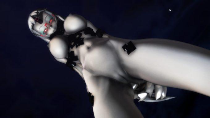 【MMD-R18,港湾棲姫】 港湾棲姫がディルドでオナニー→騎乗位でSEXするGIF・画像 (20)