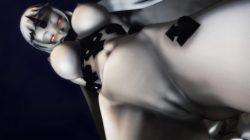 【MMD-R18,港湾棲姫】 港湾棲姫がディルドでオナニー→騎乗位でSEXするGIF・画像 (23)