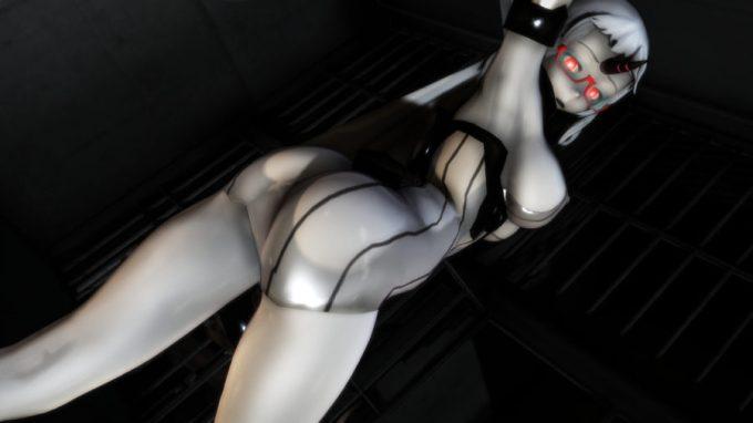 【MMD-R18,港湾棲姫】 港湾棲姫がディルドでオナニー→騎乗位でSEXするGIF・画像 (40)