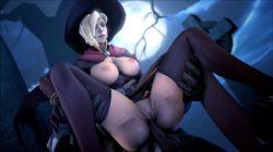 [Overwatch] 魔女コスプレのマーシーさんのエロ動画 [3DCG] (12)