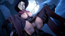 [Overwatch] 魔女コスプレのマーシーさんのエロ動画 [3DCG] (14)