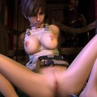 [バイオハザード] ヌードMODで全裸に剥かれたレベッカのプレイ動画 + おまけ