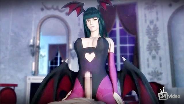[3DCG,エロ動画] 親しい従姉妹はヴァンパイア?夜な夜な性を搾り取られる! (16)