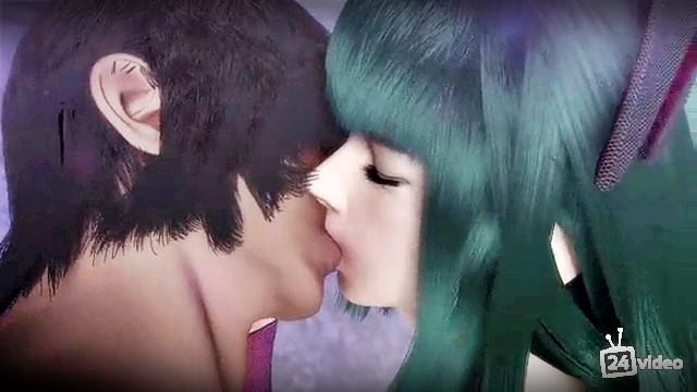 [3DCG,エロ動画] 親しい従姉妹はヴァンパイア?夜な夜な性を搾り取られる! (2)