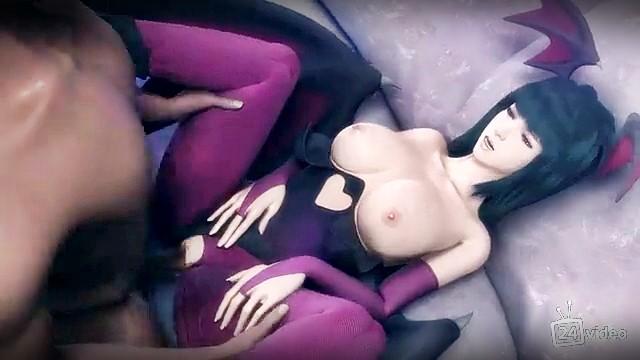 [3DCG,エロ動画] 親しい従姉妹はヴァンパイア?夜な夜な性を搾り取られる! (24)