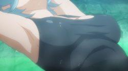 ダンジョンから戻る途中で見つけた温泉に入るが、水着が溶け出してヘスティア様があられもない姿に・・・ (57)