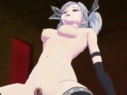 [3DCGアニメ] ゴス娘が大勢のデブ男たちに輪姦され、穴という穴をすべて犯される! (12)