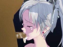 [3DCGアニメ] ゴス娘が大勢のデブ男たちに輪姦され、穴という穴をすべて犯される! (33)