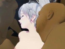 [3DCGアニメ] ゴス娘が大勢のデブ男たちに輪姦され、穴という穴をすべて犯される! (37)