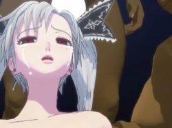 [3DCGアニメ] ゴス娘が大勢のデブ男たちに輪姦され、穴という穴をすべて犯される! (38)