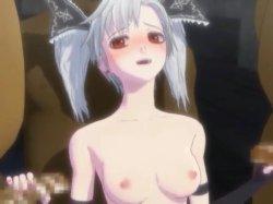 [3DCGアニメ] ゴス娘が大勢のデブ男たちに輪姦され、穴という穴をすべて犯される! (50)