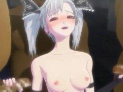 [3DCGアニメ] ゴス娘が大勢のデブ男たちに輪姦され、穴という穴をすべて犯される! (51)
