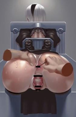 [ニーア オートマタ] ケツがエッロいヨルハ二号B型のエロ画像 Part2 (NieR:Automata) (10)