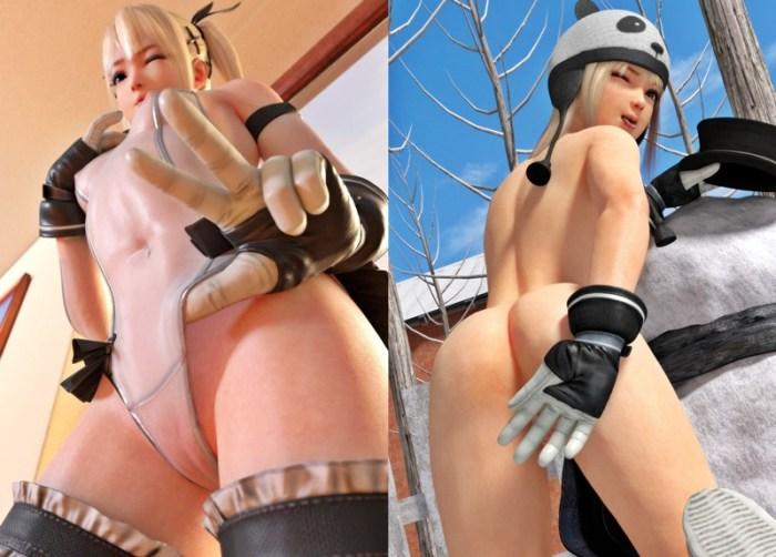 【DOA,3DCG】マリー・ローズちゃんが全裸に剥かれているくっそエロい3DCG