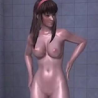 [DOA,エロ動画] ヒトミのシャワーシーンを盗撮したよw  [MOD,3DCG]