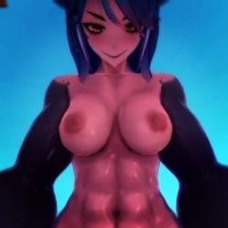 [Monster Girl Island] 爆乳&筋肉がどエロいサメ娘に組み敷かれて騎乗位セックス! [3DCGアニメ,エロゲ]