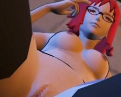 [ナルト,3DCG] 香燐がサスケを誘惑して濃厚フェラチオ→背面座位でセックスする動画