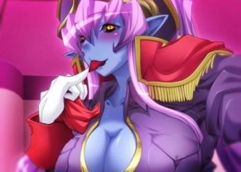 【エロゲ エロアニメ】悪の女幹部 - 青肌の女悪魔に騎乗位逆レイプで搾り取られる!(ルネ)