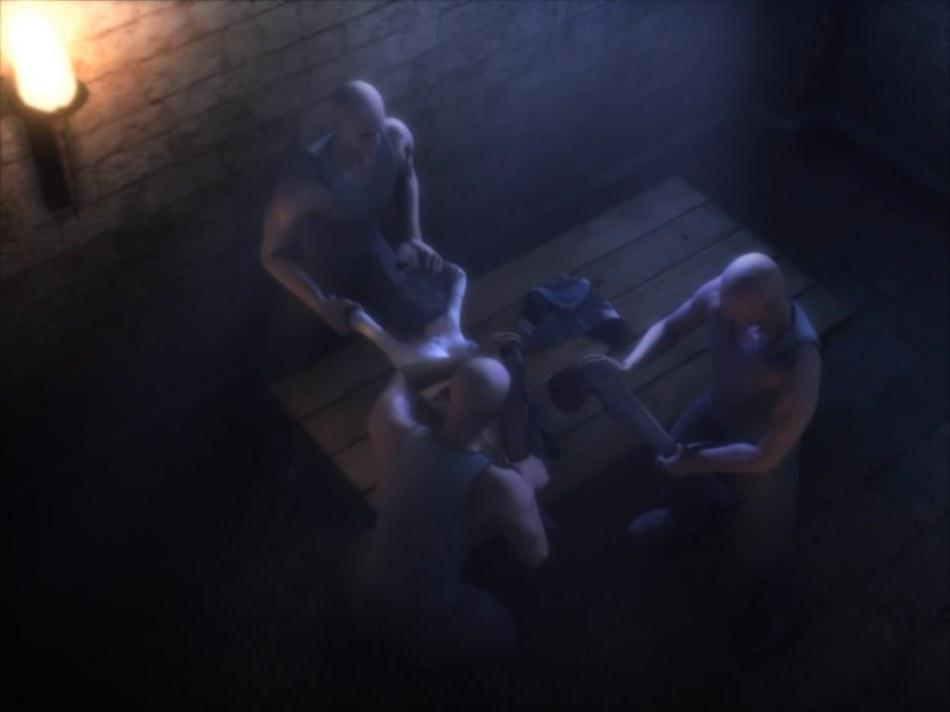 [FF7,エロ動画] ユフィが盗賊団や触手モンスターに襲われる3DCGアニメ (13)
