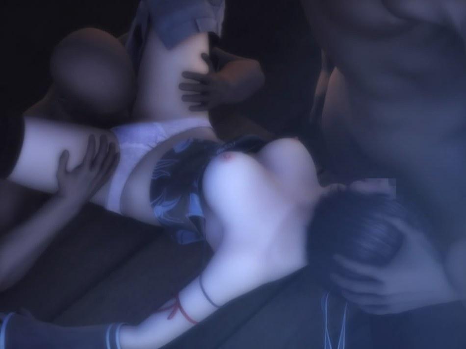 [FF7,エロ動画] ユフィが盗賊団や触手モンスターに襲われる3DCGアニメ (19)