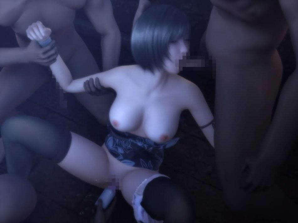 [FF7,エロ動画] ユフィが盗賊団や触手モンスターに襲われる3DCGアニメ (34)