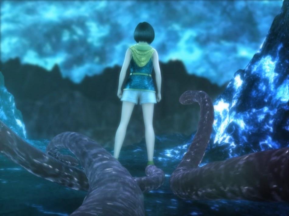 [FF7,エロ動画] ユフィが謎の触手モンスターに捕まり、全身を犯され失禁する3DCGアニメ (3)