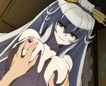 [エロアニメ] 銀髪妖狐が花魁に化けてデブ親父のお相手を・・・連発でたっぷり中出しされてイっちゃいます!!