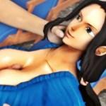 [ワンピース] ロビンが巨乳パイズリやルフィと騎乗位セックスしてる3DCG動画 (SFM)