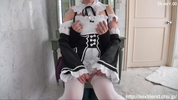 [Re:ゼロ] レムのコスプレイヤーが初ヌード撮影!ウェディング衣装でパイ揉み&ご奉仕フェラ [アニコス]