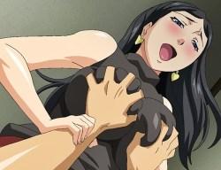 [エロアニメ] 巨乳美熟女の誘惑を振り切れずに中出しセックスをしてしまう…!その間彼女が寝取られているとも知らずに……