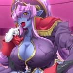 [エロゲ プレイ動画] 巨乳の青肌女悪魔を調教レイプ! (悪の女幹部)