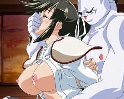 [エロアニメ] 女を犯すために国を攻める色狂いの領主が敵国の姫武者や自分の娘を犯しまくる!