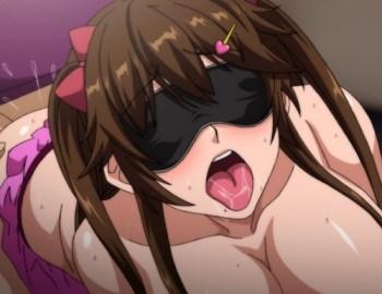 [エロアニメ] ネカフェの個室に入ったら巨乳ビッチが目隠しされてオ〇ンコ濡らして待っていた…!?