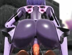 [3DCGアニメ] ケツがセクシーなアンドロイドゆかりと野外騎乗位ファック!