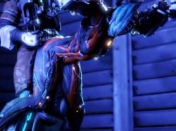 【Warframe】エロい身体したエイリアン女忍者が拘束されバックから犯される3Dエロアニメ (valkyr)