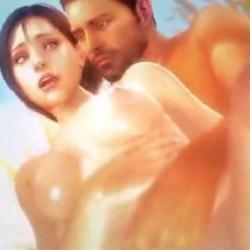 【バイオハザード】ジルとクリスが草原で開放的な青姦ラブラブセックス (3DCG)