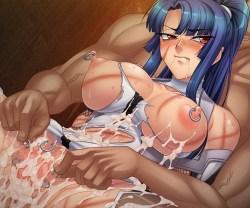 [対魔忍アサギ3] クール美女だった対魔忍ムラサキが拷問と調教の末にチ〇ポ入れられただけで絶頂する身体に…!