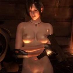 [バイオハザード] エイダがエロMODで全裸に剥かれてツンとしたおっぱいを晒されるゲームプレイ動画