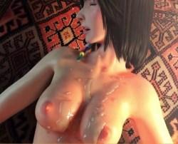 [FF10] ユウナが野外でフェラチオ・青姦ぶっかけするエロ3Dアニメ