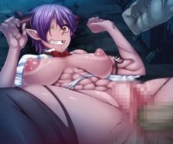 [対魔忍アサギ決戦アリーナ] ドMの女悪魔をボコボコに殴って犯し、痙攣アクメで失禁させる! (ベルベット)