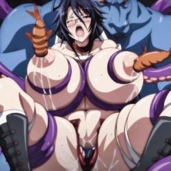 [エロアニメ] 超乳ムチムチ女子校生とレズエロ保険医が化物たちに異種姦触手レイプされて体液搾取されてイキまくり♪