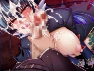 【対魔忍決戦アリーナ】悪堕ちして吸血鬼になったアサギが町中の衆人環視の中で主人公をフェラ!