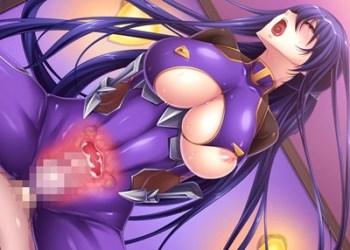 【対魔忍ユキカゼ】奴隷娼婦となった秋山凜子が対魔忍スーツで生チンポ膣内射精!
