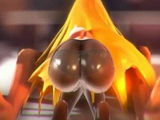 プリケツのパンスト金髪美女をイカせまくって無限の潮吹きさせる3DCGアニメ!