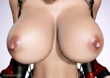 【FF7】エッチ過ぎる身体つきのティファが鬼勃起乳首おっぱいを揺らして騎乗位セックス!