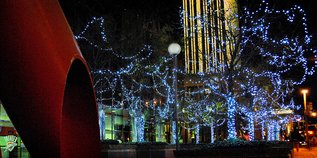 Downtown OKC Lights by Forrester Lighting