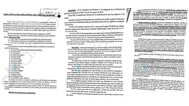 Una asociación denuncia a Sánchez ante el Supremo por el 'decretazo' de violencia de género