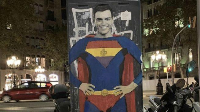 Pintan a Pedro Snchez de superman republicano por las