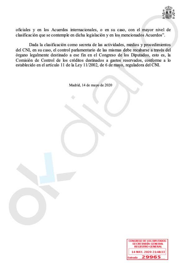"""El Gobierno dice que el papel del CNI en la fuga de 'El Pollo' Carvajal es un """"secreto de Estado"""""""