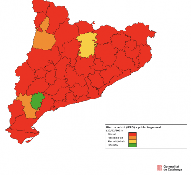 The pandemic returns to an expansion phase in Catalonia after a month of decline in infections